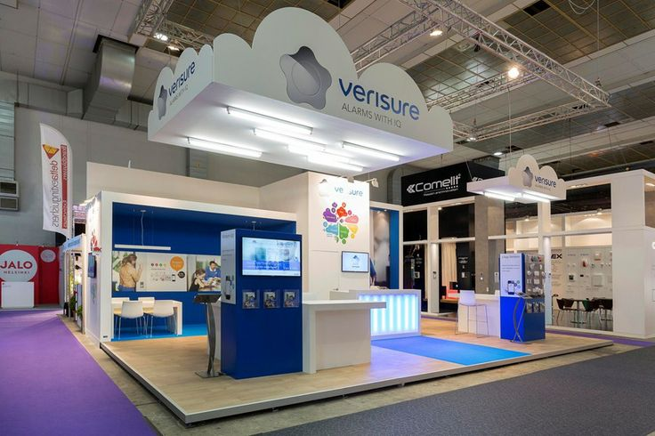 Exhibition Booth Marketing : Verisure booth standbeeld be exhibition design