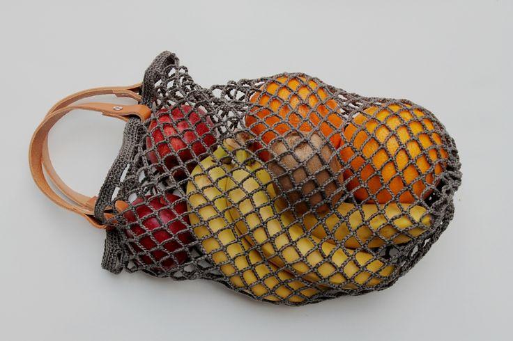 Grimmskram: Einkaufsnetz de Luxe! Tasche, bag, tote, marketbag, nähen, sew, Geschenk, gift, present, Plastik vermeiden, no plastic, avoid plastic, häkeln, Häkelnetz, crochet                                                                                                                                                     Mehr