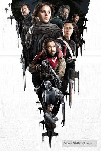Star Wars: Rogue One - Promotional art with Diego Luna, Forest Whitaker, Donnie Yen, Jiang Wen, Felicity Jones, Riz Ahmed & Ben Mandelsohn