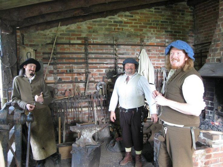 "Kentwell Advent Calendar - 17th December  Mad Bob and the Happy Tudors: ""The Forge Team during the 1556 re-creation. For me, this was the year the Forge felt like a finished jigsaw...complete!"""