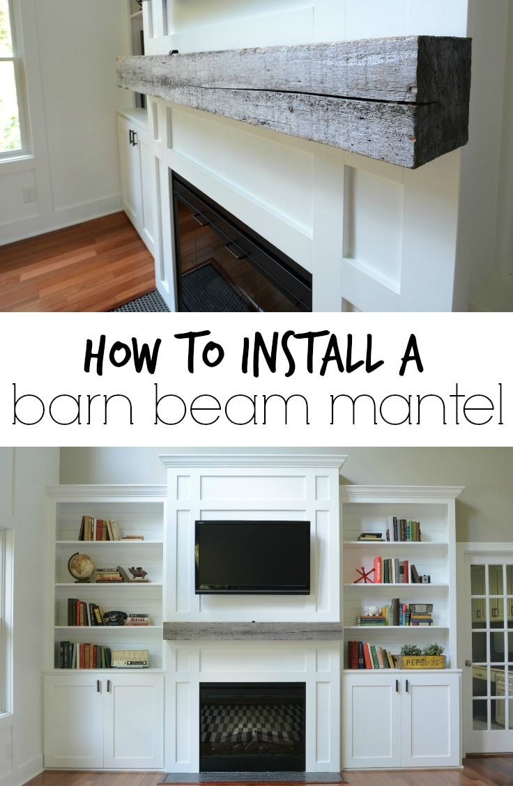 How Install A Barn Beam Mantel Why Didn T I Think Of That Pinterest Home Decor And