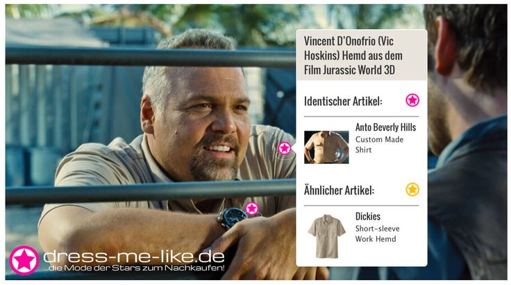 Vincent D'Onofrio (Vic Hoskins) Hemd (Anto Beverly Hills) aus dem Film Jurassic World 3D
