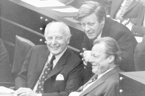 Walter Scheel, Helmut Schmidt & Willy Brandt