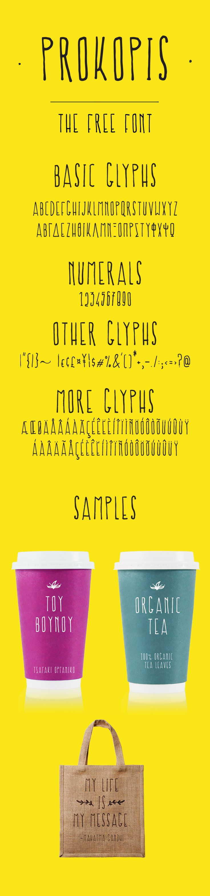 Prokopis the Free Font is ready to download!  Multilingual typeface for cute projects. Instant download for free!
