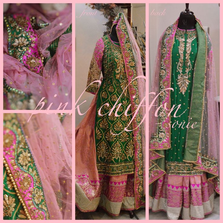 SHIRT: Pure Silk, Antique, Dabka, Nakshi, Tilla, Beads & Sequence work LEHNGA: Brocade with Zari Patti and Embroidered border DUPATTA: Pure net, Tola work with Silk Border embroidered with Antique Dabka, Nakshi, Tilla, Beads & Sequence, finishing with a colourful silk patti
