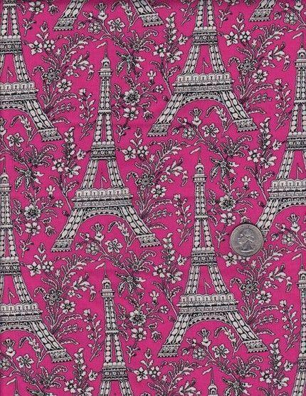 Tecido Torre Eifel - Eiffel Tower in Pink - Michael Miller - Importado- 100% algodão