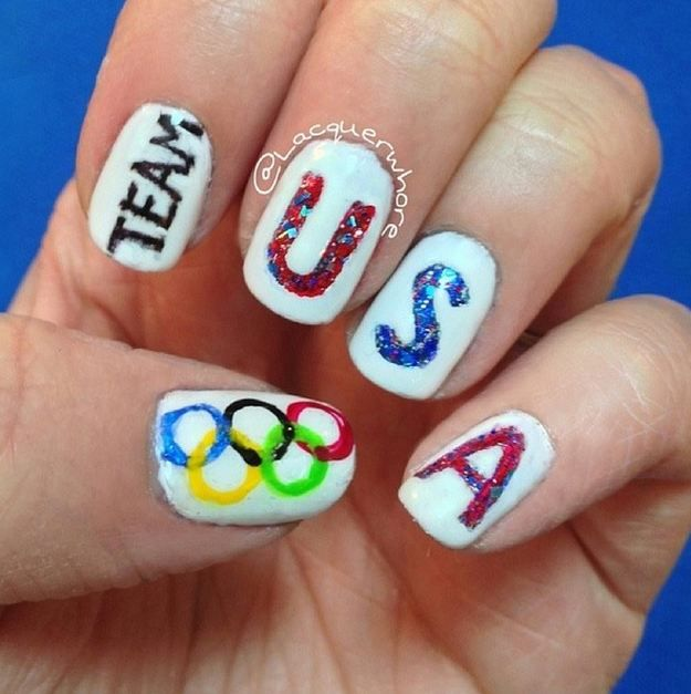 Best 25 usa nails ideas on pinterest american nails 4th of 18 summer olympics 2016 nail designs to support team usa prinsesfo Choice Image