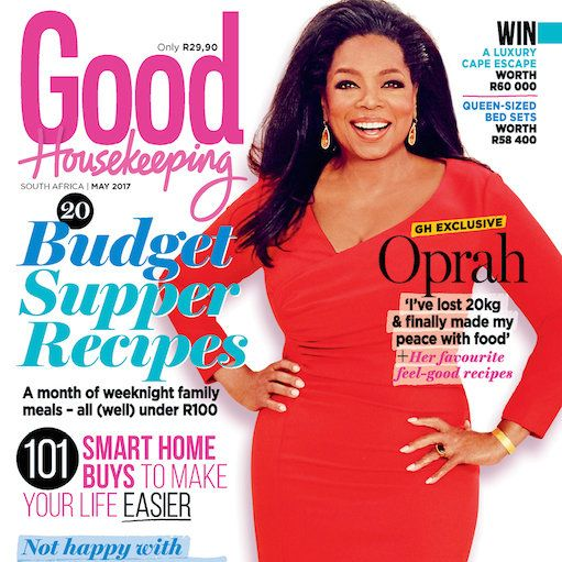 Our May issue is out now! The ever-inspiring Oprah Winfrey graces the cover of our May issue – it's filled with smart ways to save money and make your life easier