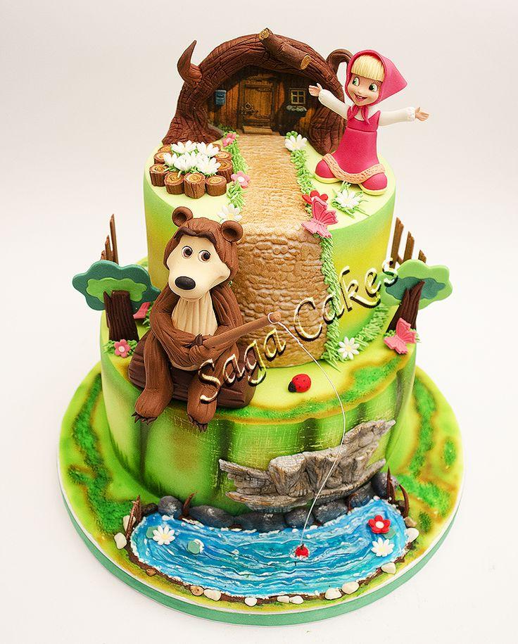 Masha and The Bear / Masa i medved https://www.facebook.com/saga.cakes #tortesaga #tortebeograd #MashaandTheBear #masaimedved