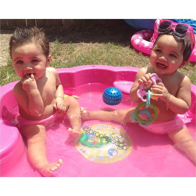 Throwback water babies miss my little darlings being this small and chubby