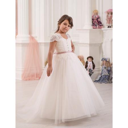 Престиж Платье нарядное Престиж  — 6179р. ---------------------- Платье для девочки Престиж.  Характеристики:  • пышный силуэт • без рукавов • состав: 100% полиэстер • цвет: бежевый  Платье для девочки Престиж имеет длинную пышную юбку и кружевной верх, декорированный пуговицами. Модель красиво сидит по фигуре и дополнена тонким контрастным поясом. Прекрасный выбор для торжества!  Платье регулируется шнуровкой сзади, от талии до верха спинки. Шнуровка в комплекте. Платье подходит для занятий…