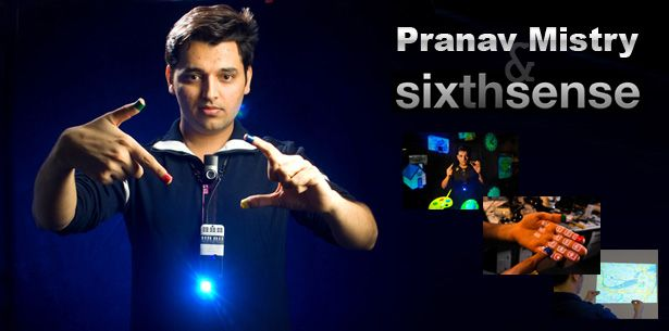 If you haven't heard about sixth sense technology you must google Pranav Mistry. He's made real the pretend technology in the Minority Report. A version 2.0 world with no line between computer technology and real life.
