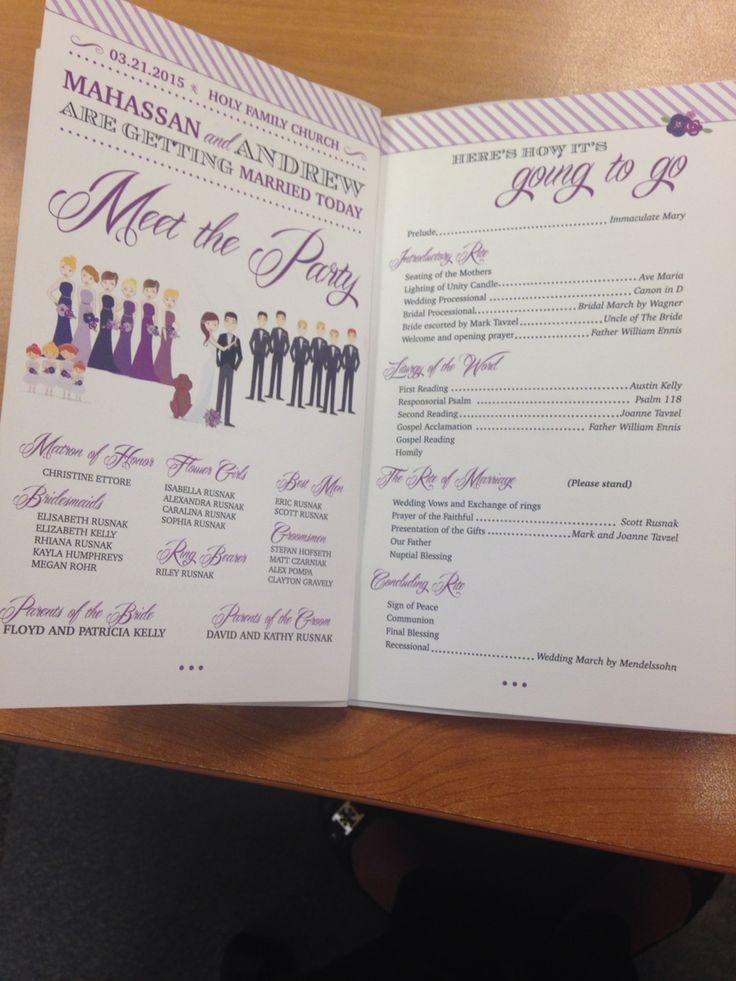 Wedding program for Catholic wedding