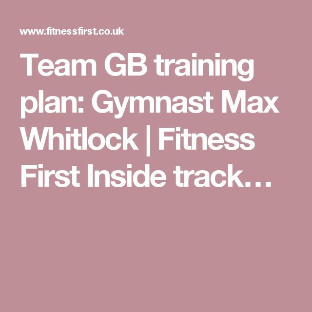 Team GB training plan: Gymnast Max Whitlock | Fitness First Inside track…