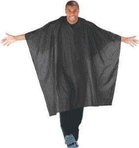 Cricket Haircutting Capes, Unicloth, Black by Cricket. $35.90. Versatile black color with adjustable snap closure. Ideal for both stylists and clients. Water resistant wrinkled nylon. This haircutting cape is water resistant wrinkled nylon. The extra large cape measures 54 inch x 60 inch and is versatile black color, with adjustable snap closure. This lightweight unicloth is machine washable for easy care. Ideal for both stylists and clients to keep hair, water...