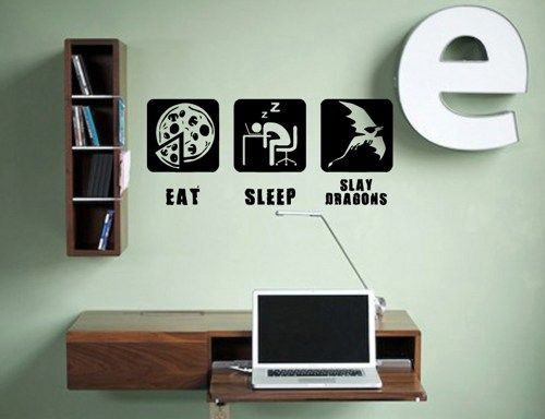 Nerd room wall decals google search ideas for the for Decoration geek
