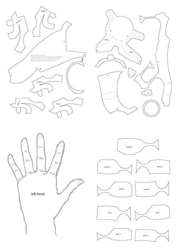 Iron Man Suit Template : template, Hands, Template, Hand,, Helmet