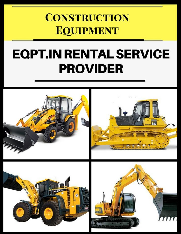 Get all construction equipment rental like earth moving, concrete, material handling & road construction equipment in India. Call & get rates @ 1800-103-1735 http://eqpt.in/rent/earth-moving-equipment.html