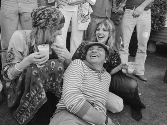 happy birthday Christine McVie ('43). Christine McVie and Stevie Nicks clowning with legendary promoter Bill  Graham, 1976  12 July 1943 – Christine McVie, English singer-songwriter and keyboard player (Fleetwood Mac and Chicken Shack)