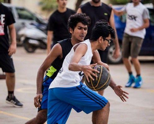 Freshers Vs. Seniors – Friendly Matches '15-    Basketball_match