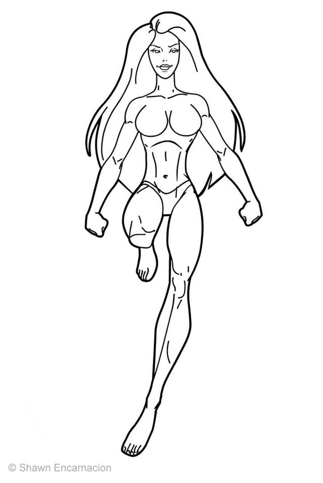 coloring pages superheroes women costume - photo#22