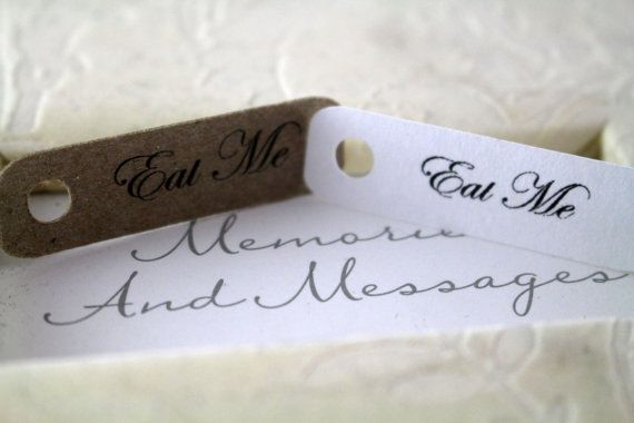 Mini Eat Me Tags Perfect for Favors or by SillyLoveSongCustoms