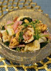 ワインのおつまみに♪卵とほうれん草の☆洋風サラダ レシピ・作り方 by まめもにお 楽天レシピ