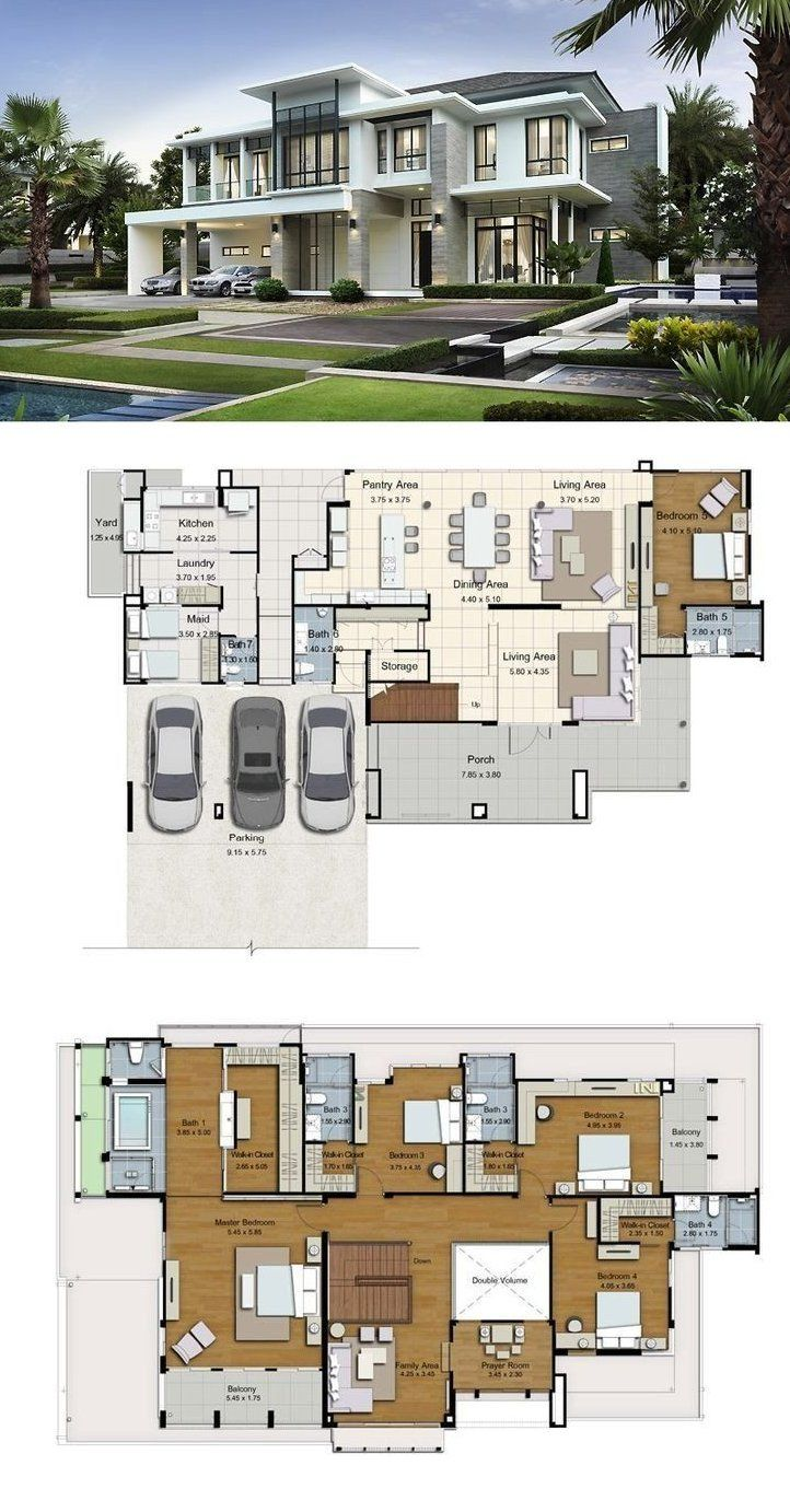 Big Modern House Floor Plans Best Wohnen Images On Pinterest Big House Layouts Land And Big Modern Hou In 2020 House Plans Mansion Big Modern Houses Luxury House Plans