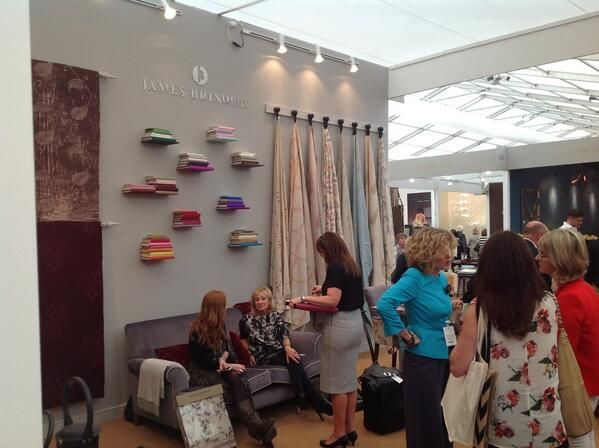 The James Brindley Of Harrogate stand   Perks Field - A37 at #Decorex 2013 #silkroute