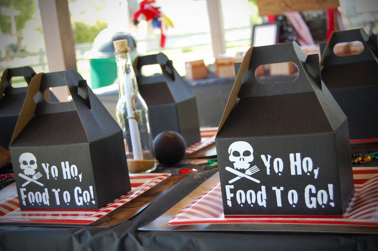 Yo Ho, Food to Go! Fun Pirate Party Packages