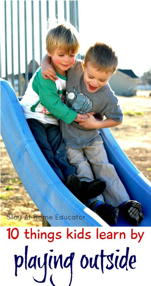 10 really important, really big deal, things that kids learn by playing outside - Stay At Home Educator