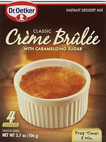 Dr Oetker Creme Brulee Mix 4 Servings 37oz Pack of 3 >>> Be sure to check out this awesome product.(This is an Amazon affiliate link and I receive a commission for the sales)