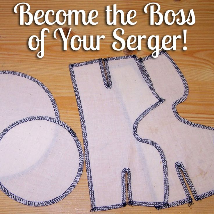 Become the Boss of Your Serger with these practice templates -- includes step by step instructions. | A Needle for Your Thoughts