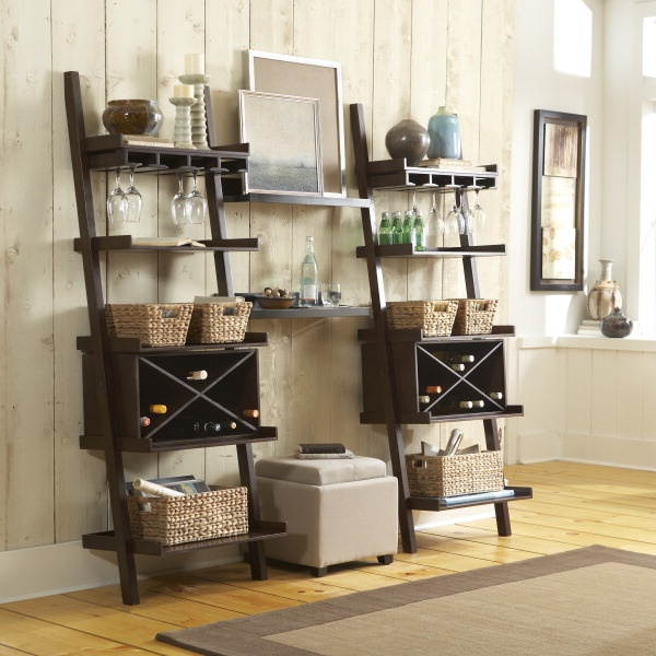 Dress Up A Ladder Shelf To Make It Fit Your Home