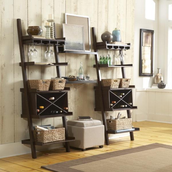 Kitchen Ladder Shelf: Dress Up A Ladder Shelf To Make It Fit Your Home.