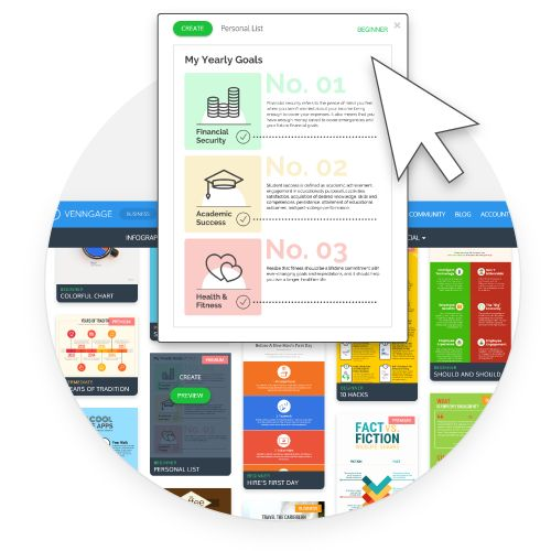 Venngage is an easy to use Infographic Maker that lets you make beautiful Infographic Designs & Themes for free!