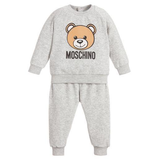 250decaba7b5 Moschino Baby - Unisex Grey Velour Tracksuit