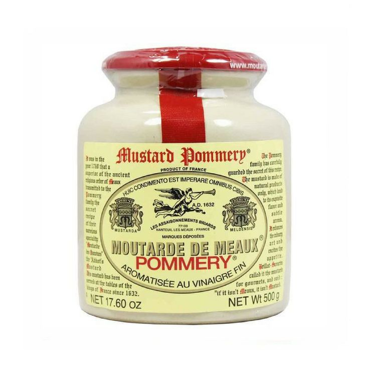 Large French Mustard from Meaux by Pommery 17.6 oz (500 gram)  #LeTablierbleu #FrenchFood #FrenchCuisine #TOPCHEFS