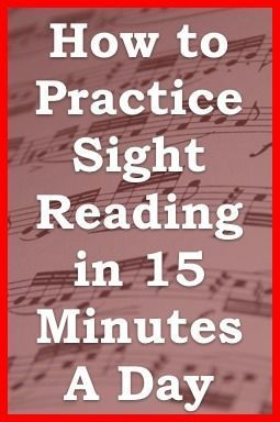 """Tips for practicing SIGHT READING reading secrets from one minute music lesson... """"Practice smart, not hard."""" (music)"""