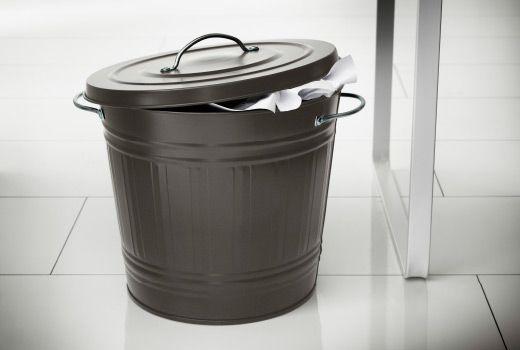 3192円【楽天市場】IKEA KNODD イケア ふた付き容器, グレー 40L 503.153.14 ブリキ ゴミ箱:日本オアシス株式会社