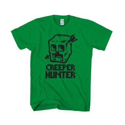 Creeper Hunter T-shirt Apparels Minecraft | IdolStore