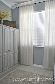 DIY Muslin Curtains: very inexpensive and easy to make.