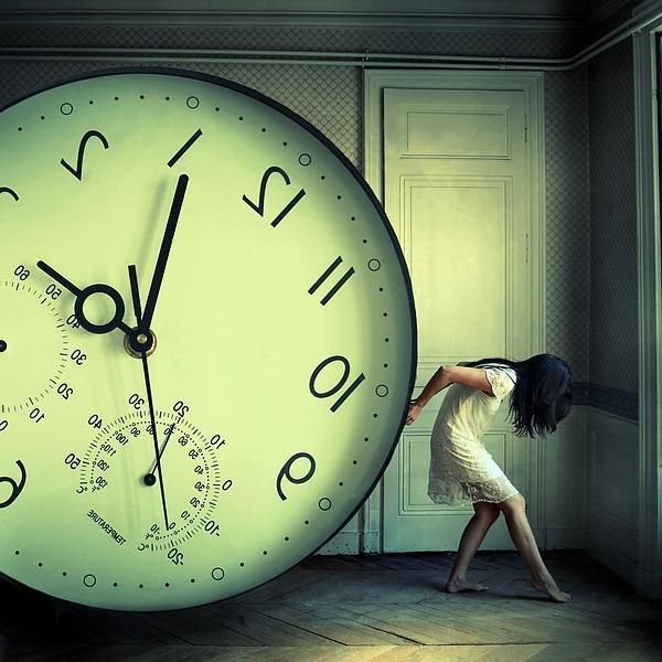 The weight of time Photoshop Manipulation