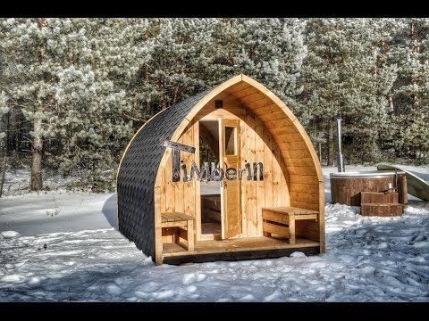 Gartensauna, Außensauna, Fass Sauna, Saunafass mit Holzofen, Vorraum kaufen | DE, AT, Schweiz - YouTube