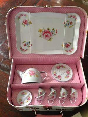 Kids Tea Set   Pink Floral   Buy Now