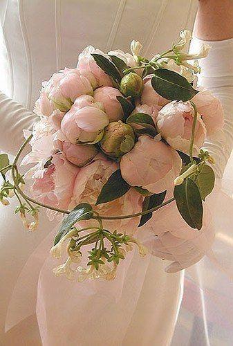 bouquet pivoines chevrefeuille