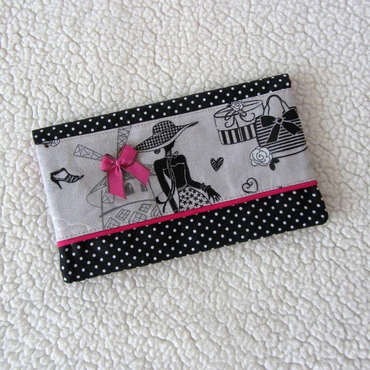 """Réservé: Porte-chéquier rétro chic """"la parisienne"""" N°22 en tissus à pois : Porte-monnaie, portefeuilles par nymeria-creation"""