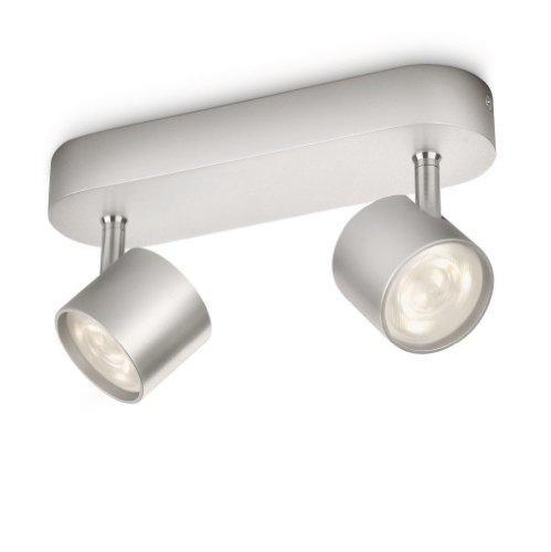 Oferta: 33.26€ Dto: -36%. Comprar Ofertas de Philips myLiving Star - Barra de focos, LED, 2 luces, aluminio, luz blanca cálida, 3 W, color gris barato. ¡Mira las ofertas!