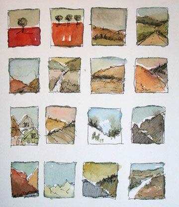 Sketchbook idea - Utah thumbnails, Amanda Kavanagh