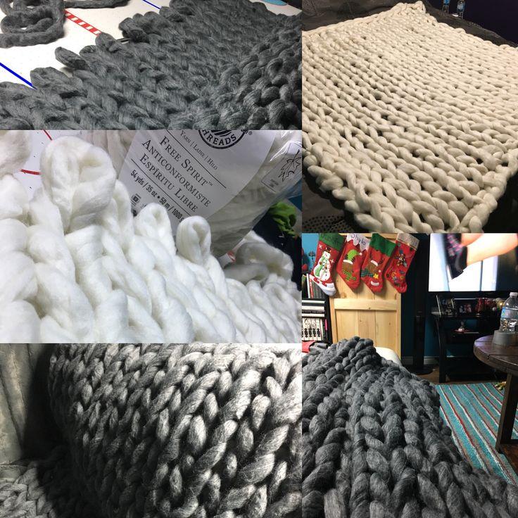 DIY jumbo yarn blankets! ❤️